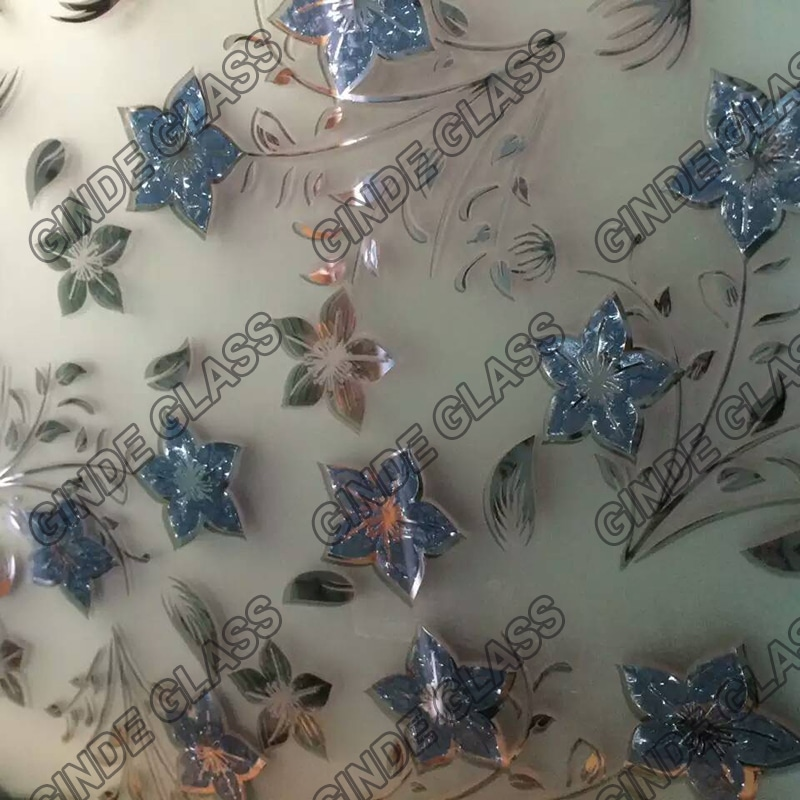 Decorative Acid Ice Flower Glass Manufacture Wholesales