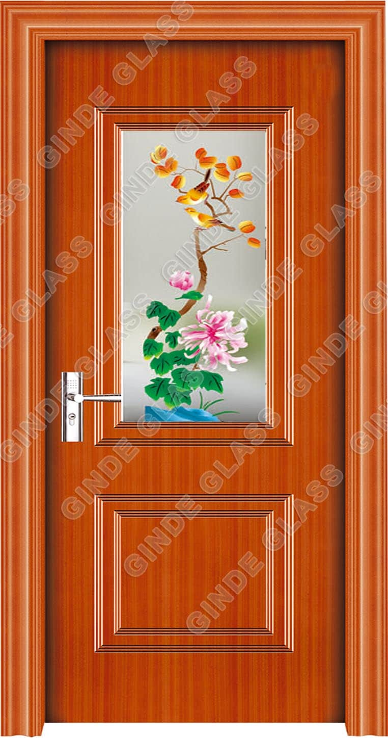 decorative door glass panels design image photo