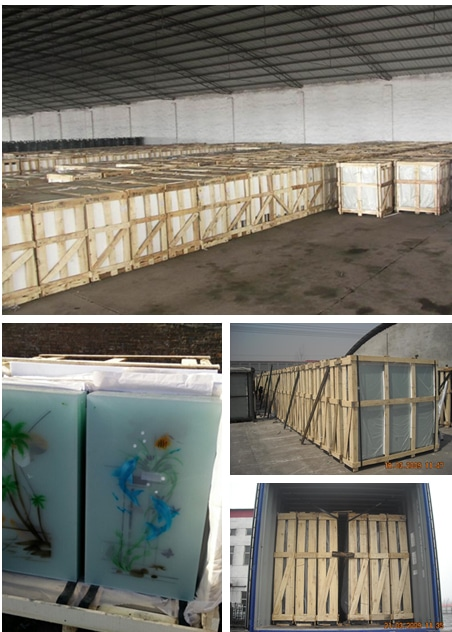 packing decorative door glass