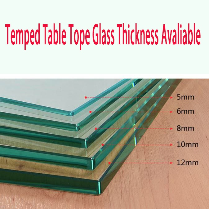 tempered glass table top picture photo factory2