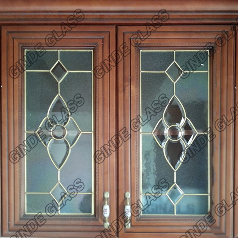 Leaded Glass With Brass For Cabinet Door Manufacturer Wholesales