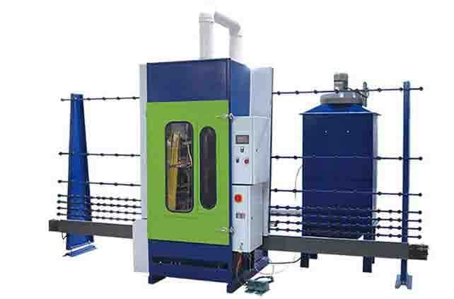 sandblasting glass machine