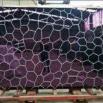 v grooving textured glass