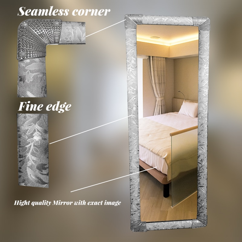 silver color frame full length mirror